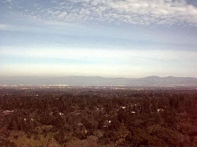 Image or picture of Silicon Valley from a hilltop.