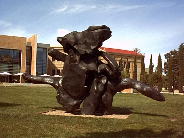 Image or picture of the Stanford sculpture, Silicon Valley.
